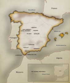Robert Henri Biographical Map of Spain