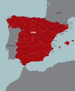 Map of Spanish Vernacular Spaces