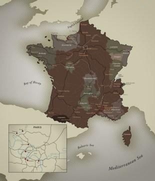 Impressionist France Rail Map