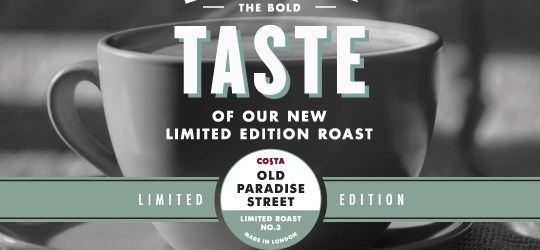 Costa Old Paradise Street, costa new blend