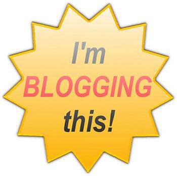 I 'm blogging this!