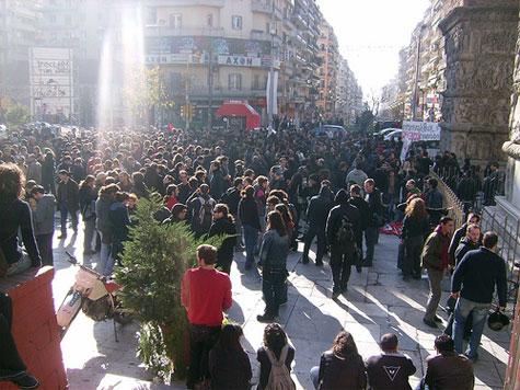 Διαδήλωση στη Θεσσαλονίκη