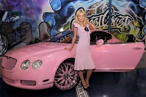 Paris Hilton pink Bentley Continental GT - 6