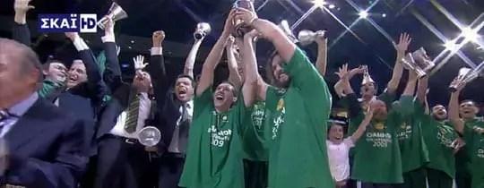 Panathinaikos Euroleague Champions 2009