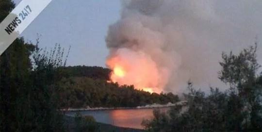 Σκόπελος, Πυρκαγιά στον Πάνορμο