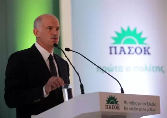 Γιώργος Παπανδρέου, Συνεδρίαση Εθνικού Συμβουλίου ΠΑΣΟΚ