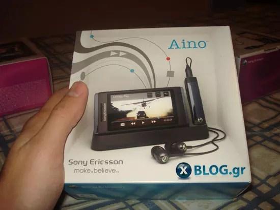 Sony Ericsson Aino, Unboxing