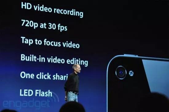iPhone 4 HD video recording