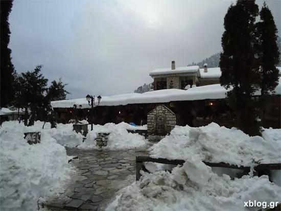 Ελάτη Τρίκαλα χιόνια