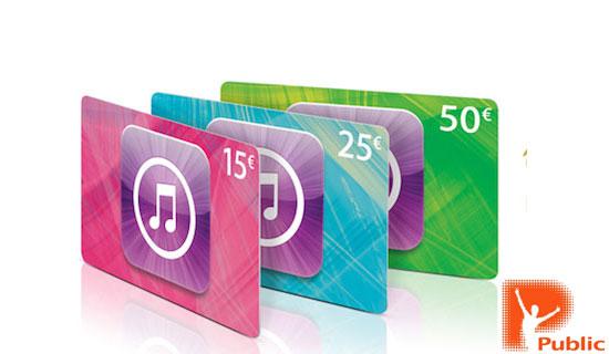 iTunes Gift Cards και στα καταστήματα Public