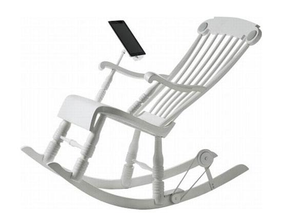 Κουνιστή πολυθρόνα που φορτίζει iPad