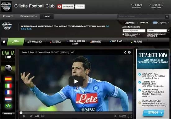 Gillette Football Club στο YouTube