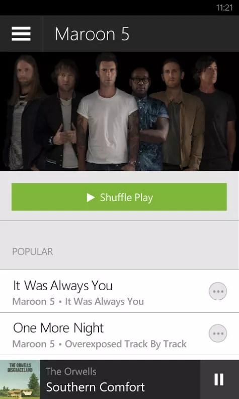 Spotify Windows Phone app