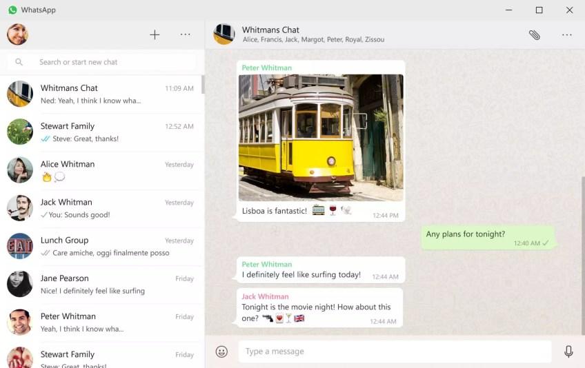 WhatsApp Windows 10 app
