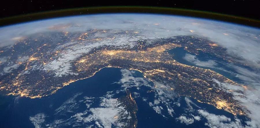 Η Ιταλία, όπως φαίνεται από το Διάστημα