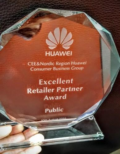 Huawei Excellent Retailer Partner Award Public