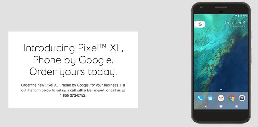 Google Pixel XL leaked banner