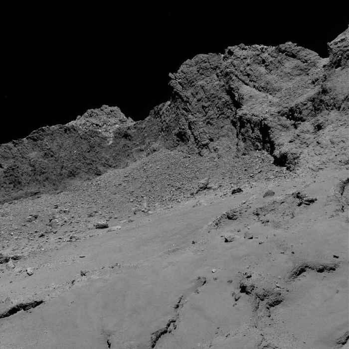 Rosetta descent image comet 67p