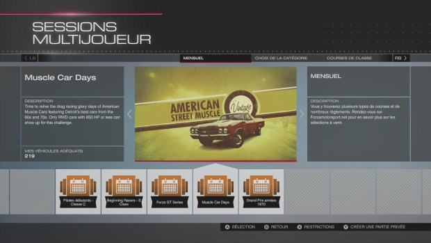 Forza 5 Muscle Car Days