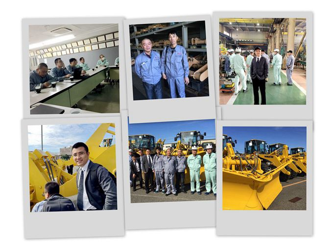 xdl machinery david visiting komatsu and its partner