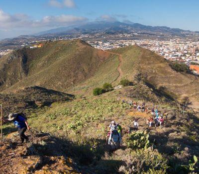 Subida a La Gallardina en La Cañada de La Laguna