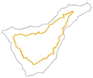 Caminos estructurantes de Tenerife - Croquis GR-133