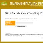 Semakan Keputusan SPM 2015 Calon 2014