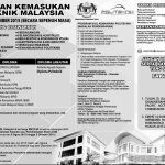 Permohonan Politeknik dibuka Ambilan Disember 2015