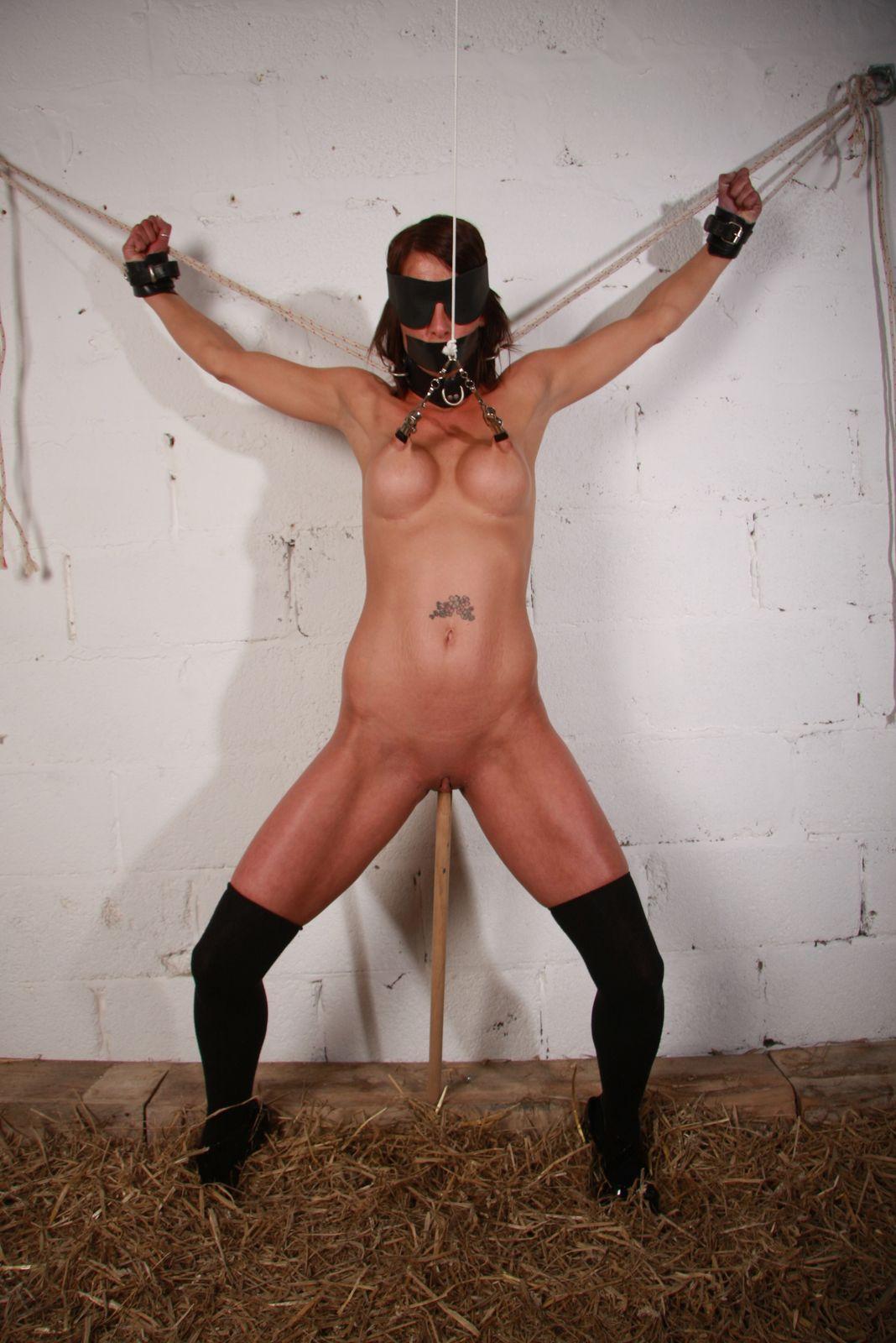 nipple stretching bondage
