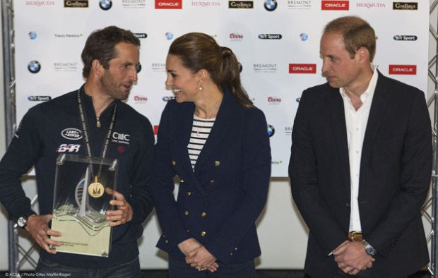 Ben Ainslie and the Duke and Duchess of Cambridge