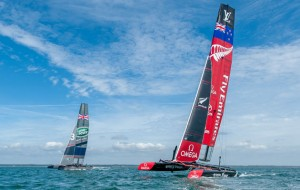 Team Emirates New Zealand on the Solent