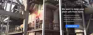 industrial plant piping with dangerous defect