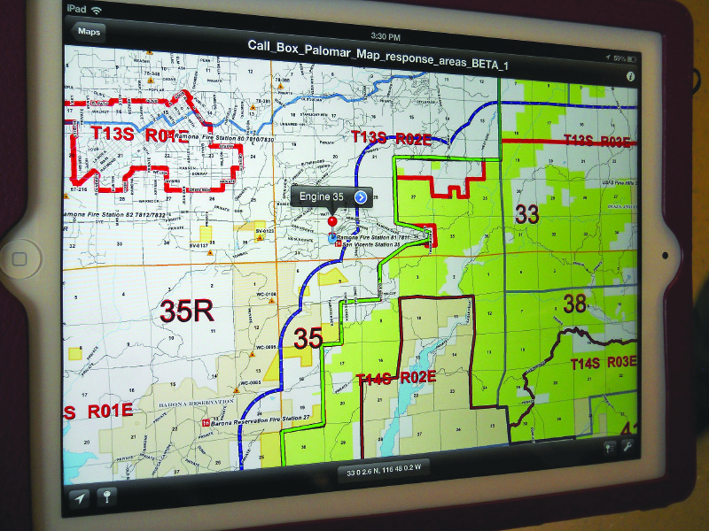 Custom  Portable Maps   Via App    xyHt Credit  Avenza and the U S  Bureau of Land Management