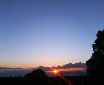 神祇大社からの日の出