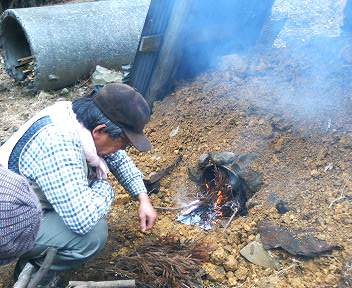 竹炭作り7