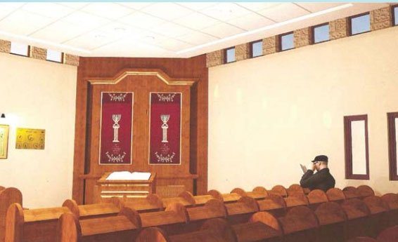 Our synagogue will be a beautiful structure, open to all. Dedications are available for the entire shul: the aron kodesh, sifrei Torah, seats, books, and bookshelves