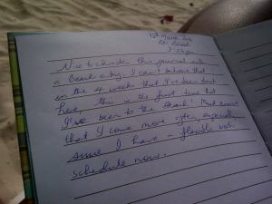 The start of the Journal entry