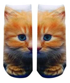 Living Royal Kitty ankle socks, available at She She Bags & Shoes. $8/pair