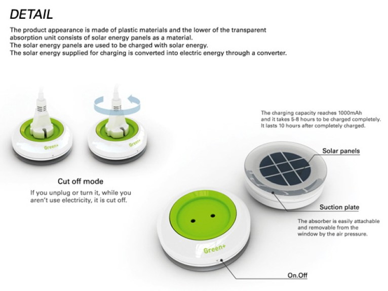 Solar Solutions – Plug It On The Window by Yankodesign