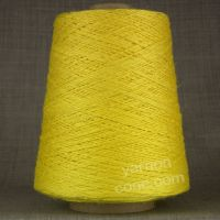 soft 4 ply viscose linen yarn on cone knitting weaving crochet lemon yellow
