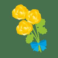 黄色い花 イラスト