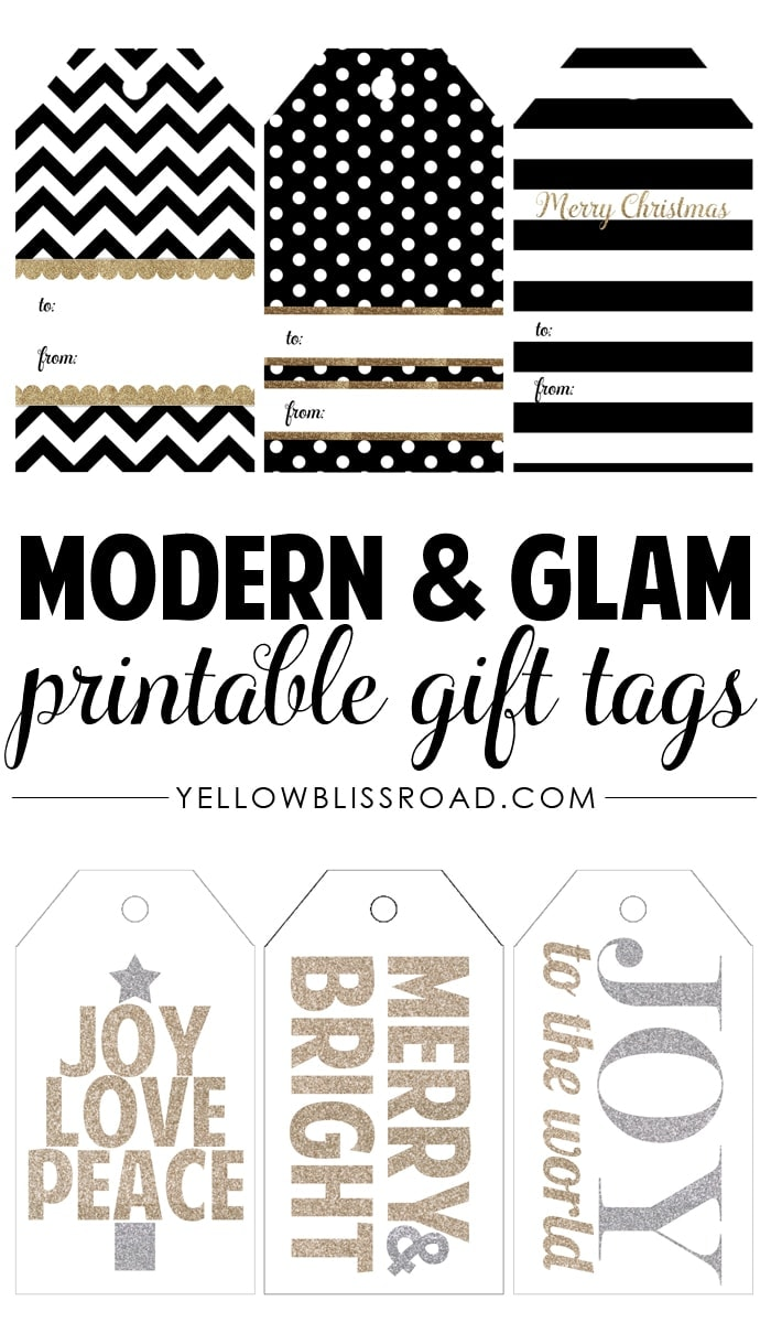 Influential image throughout gift tags printable