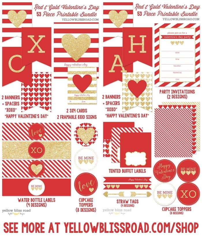 Valentine's Day Printable Party Bundle