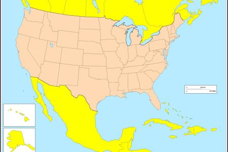 united states blank map
