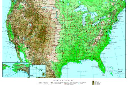 us topographical map