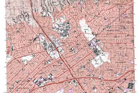 beverly hills topographic map, ca usgs topo quad 34118a4