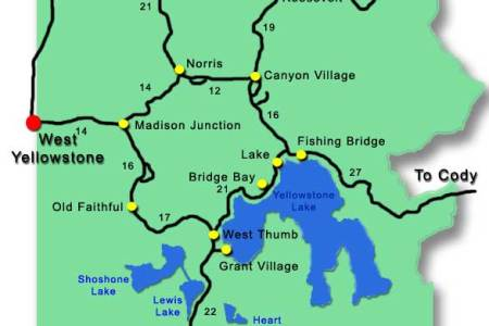 Map Of Yellowstone - Yellowstone on a map of the us