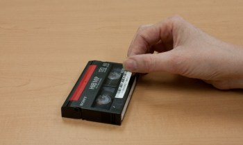 Placing barcode on videotape