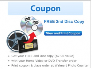 Walmart free 2nd dvd copy