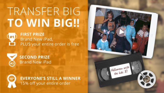 YesVideo Transfer Big Win Big Contest